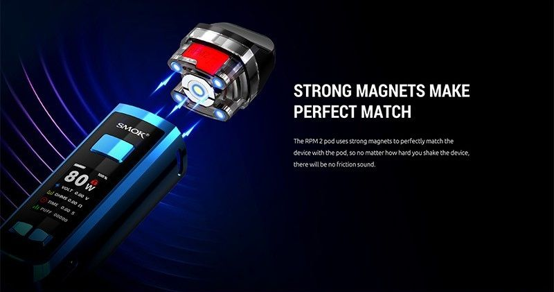 Smok RPM 2 magnety na cartridge
