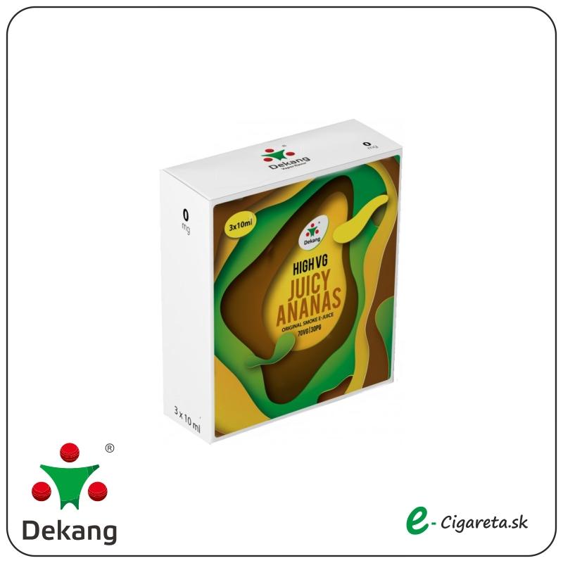 Dekang High VG 3x 10ml - 6mg/ml Juicy Ananas (ŠťAVNATý ANANáS)
